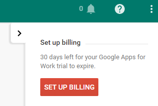 Google Apps setup billing
